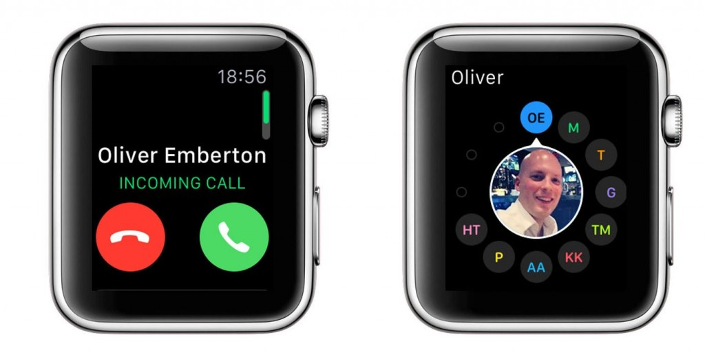 Incoming calls - Apple Watch